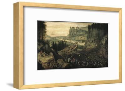 The Suicide of Saul-Pieter Bruegel the Elder-Framed Giclee Print