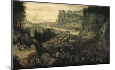 The Suicide of Saul-Pieter Bruegel the Elder-Mounted Giclee Print