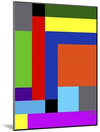 Blk-Square-Diana Ong-Mounted Giclee Print