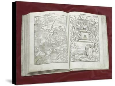 Martin Luther Bible: Four Horsemen of Apocalypse--Stretched Canvas Print