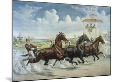 Pacing for a Grand Purse-Currier & Ives-Mounted Giclee Print