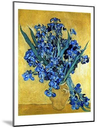 Vase of Irises Against a Yellow Background, c.1890-Vincent van Gogh-Mounted Giclee Print