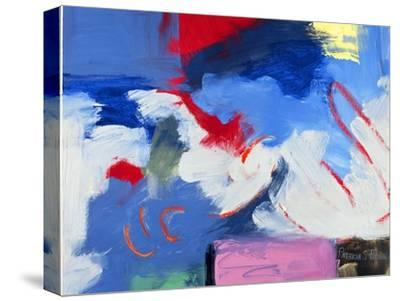 Abstract, Red, Blue-Patricia Brown-Stretched Canvas Print