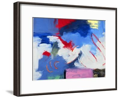 Abstract, Red, Blue-Patricia Brown-Framed Giclee Print