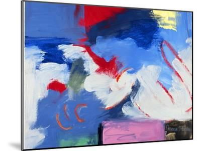 Abstract, Red, Blue-Patricia Brown-Mounted Giclee Print