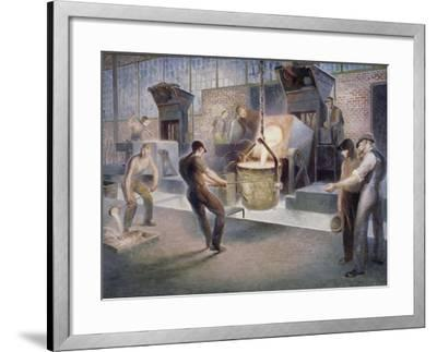 Tapping Induction Furnace-Edmund M^ Ashe-Framed Giclee Print