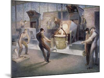 Tapping Induction Furnace-Edmund M^ Ashe-Mounted Giclee Print