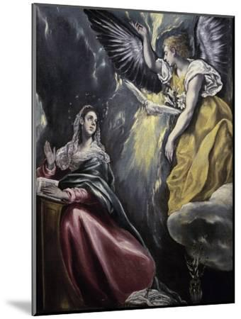 The Annunciation-El Greco-Mounted Giclee Print