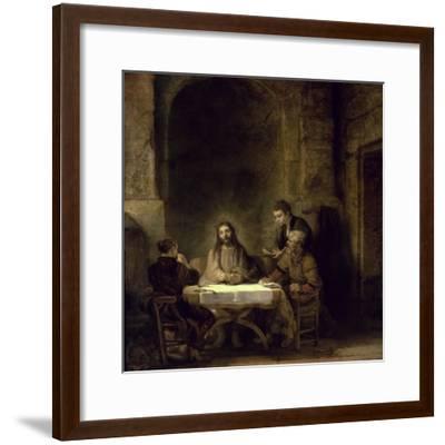 Supper at Emmaus-Rembrandt van Rijn-Framed Giclee Print