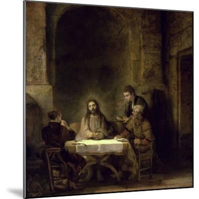Supper at Emmaus-Rembrandt van Rijn-Mounted Giclee Print