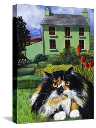 Persian Cat in Ireland (Chat Persan En Irland)-Isy Ochoa-Stretched Canvas Print