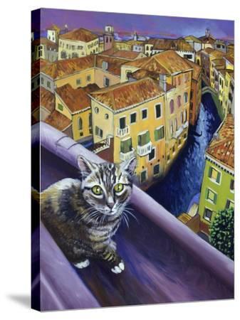 Cat of Venice (Chat de Venise)-Isy Ochoa-Stretched Canvas Print