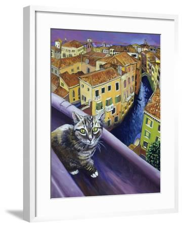 Cat of Venice (Chat de Venise)-Isy Ochoa-Framed Giclee Print