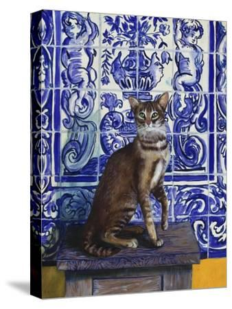 Cat of Portugal (Chat Du Portugal)-Isy Ochoa-Stretched Canvas Print