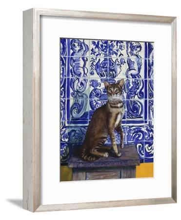 Cat of Portugal (Chat Du Portugal)-Isy Ochoa-Framed Giclee Print