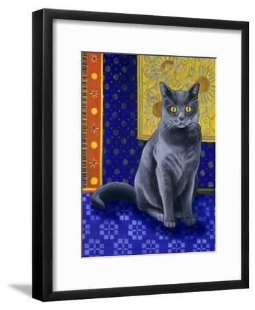 Chat Chartreux, Series I-Isy Ochoa-Framed Giclee Print