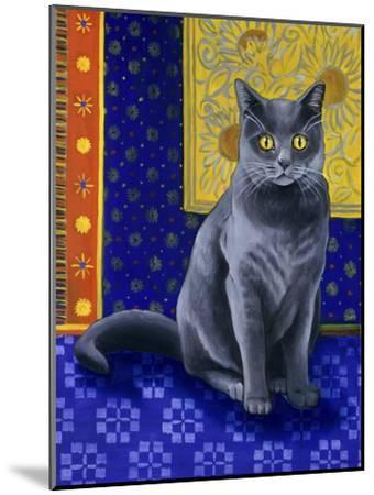 Chat Chartreux, Series I-Isy Ochoa-Mounted Giclee Print