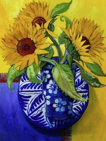 Sunflowers, Series I-Isy Ochoa-Framed Giclee Print