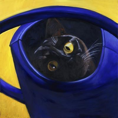 Cat in the Watering Can (Chat a L'Arrosoir)-Isy Ochoa-Stretched Canvas Print
