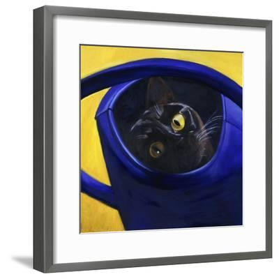Cat in the Watering Can (Chat a L'Arrosoir)-Isy Ochoa-Framed Giclee Print