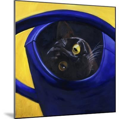 Cat in the Watering Can (Chat a L'Arrosoir)-Isy Ochoa-Mounted Giclee Print