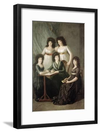6th Contessa of Montijo and Her Four Daughters-Francisco de Goya-Framed Giclee Print