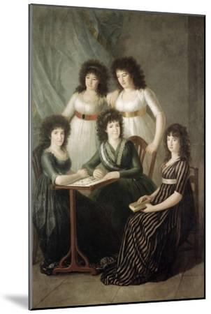 6th Contessa of Montijo and Her Four Daughters-Francisco de Goya-Mounted Giclee Print