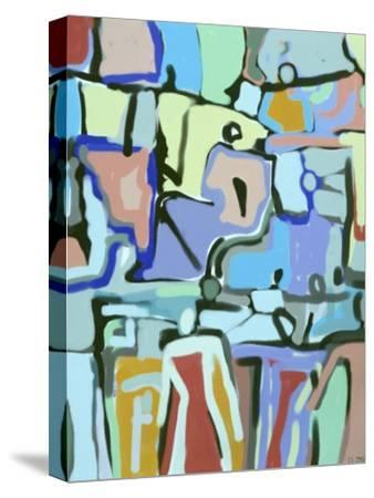 Abstract Crowd-Diana Ong-Stretched Canvas Print