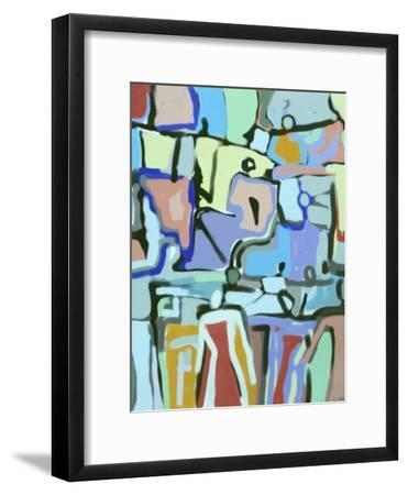 Abstract Crowd-Diana Ong-Framed Giclee Print