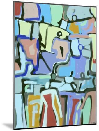 Abstract Crowd-Diana Ong-Mounted Giclee Print