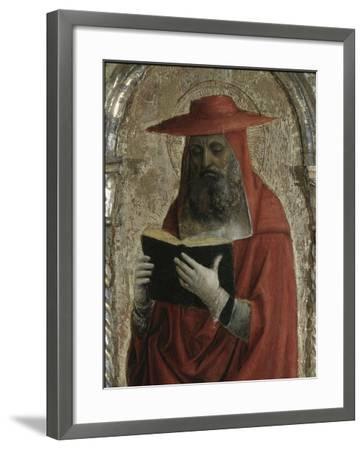 Fornari Polyptych-Detail of Saint Jerome-Vincenzo Foppa-Framed Giclee Print