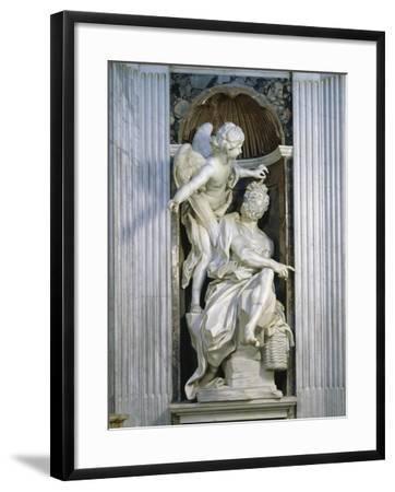 Abacuc and the Angel-Giovanni Lorenzo Bernini-Framed Giclee Print