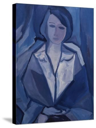 Portrait in Blue-Diana Ong-Stretched Canvas Print