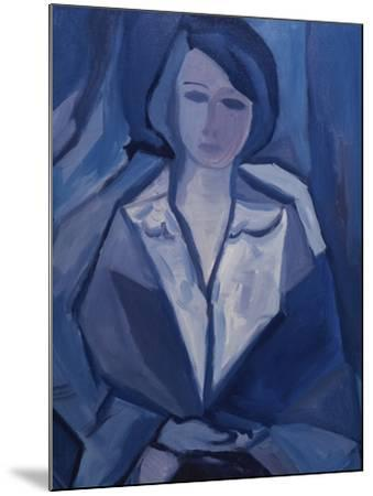 Portrait in Blue-Diana Ong-Mounted Giclee Print