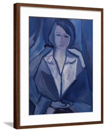 Portrait in Blue-Diana Ong-Framed Giclee Print