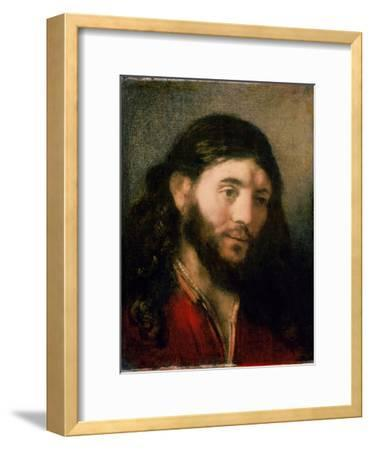 Head of Christ-Rembrandt van Rijn-Framed Giclee Print