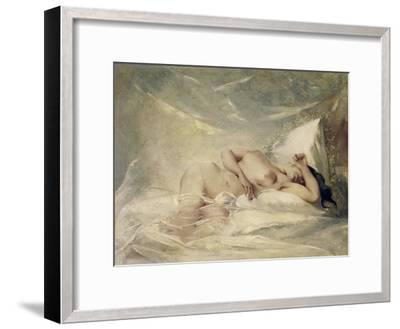Reclining Nude--Framed Giclee Print