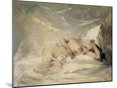 Reclining Nude--Mounted Giclee Print