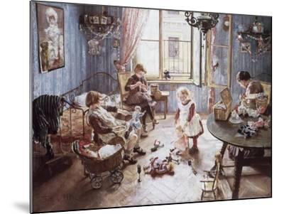 Nursery-Fritz von Uhde-Mounted Giclee Print