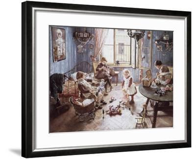 Nursery-Fritz von Uhde-Framed Giclee Print