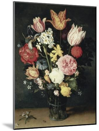 Tulips, Roses and Other Flowers in a Glass-Balthasar van der Ast-Mounted Giclee Print