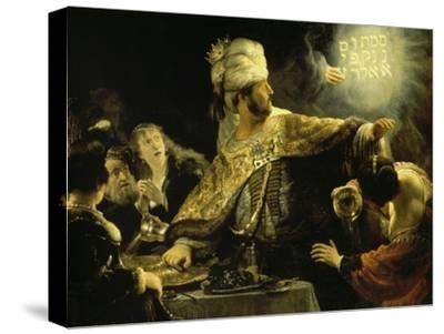 Belshazzar's Feast-Rembrandt van Rijn-Stretched Canvas Print