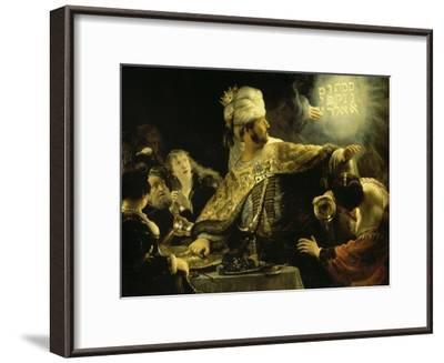 Belshazzar's Feast-Rembrandt van Rijn-Framed Giclee Print