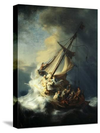 The Storm on the Sea of Galilee-Rembrandt van Rijn-Stretched Canvas Print