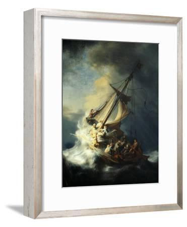 The Storm on the Sea of Galilee-Rembrandt van Rijn-Framed Giclee Print