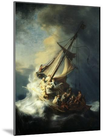 The Storm on the Sea of Galilee-Rembrandt van Rijn-Mounted Giclee Print