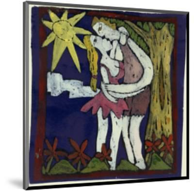 First Kiss-Leslie Xuereb-Mounted Giclee Print