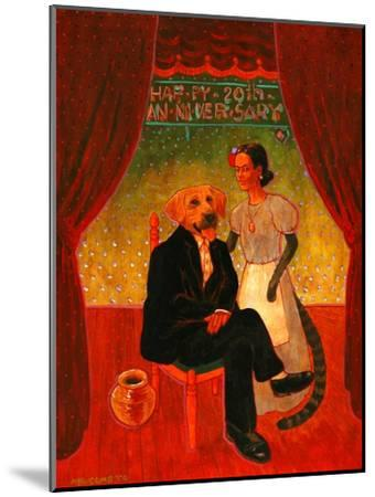 Diego and Frida-John Newcomb-Mounted Giclee Print