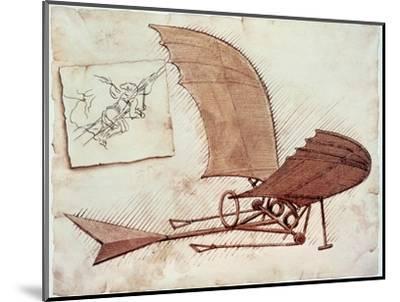 Flying Machine-Leonardo da Vinci-Mounted Premium Giclee Print
