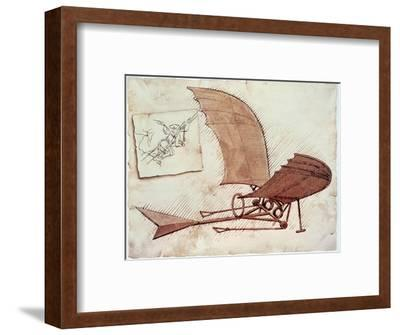 Flying Machine-Leonardo da Vinci-Framed Premium Giclee Print